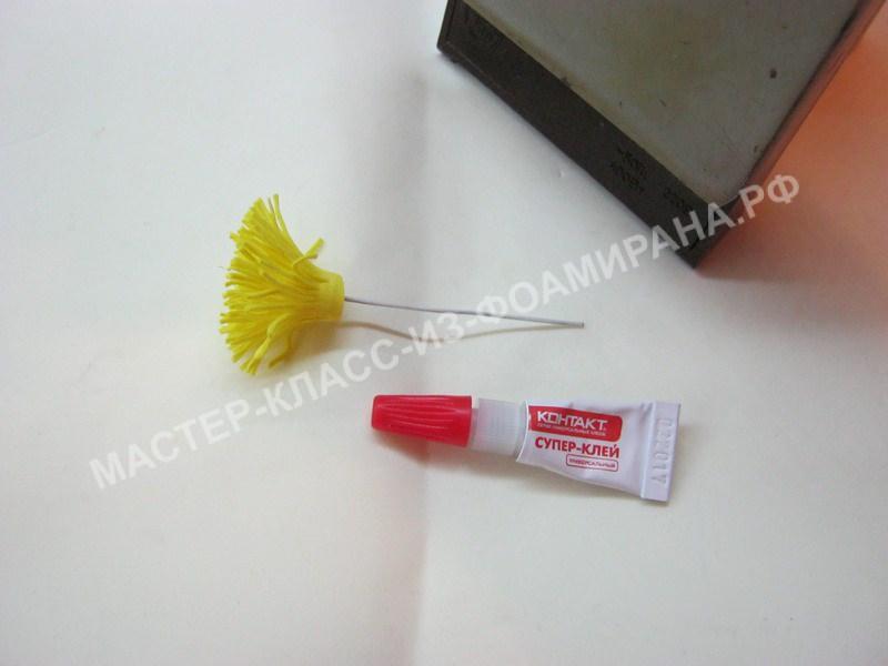 обработка тычинок цветка