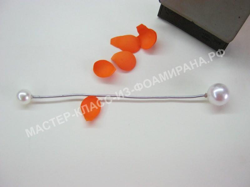 обработка лепестков бутона