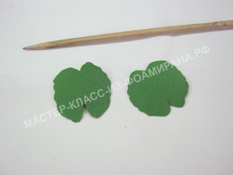 нанесения текстуры на листочках