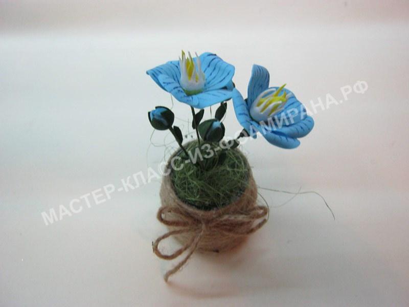 мастер-класс цветочки льна из фоамирана, пошаговое фото