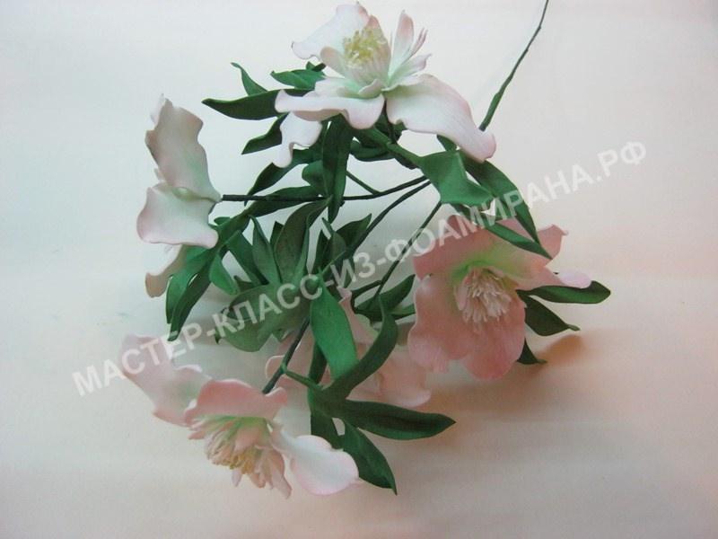 мастер-класс весенние цветы из фоамирана, пошаговое фото