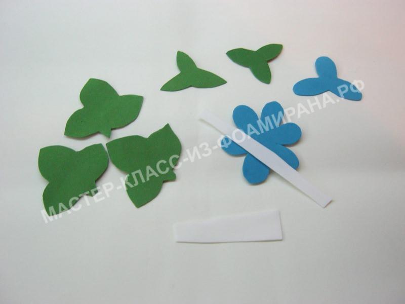 заготовки для изготовления цветка и бутона