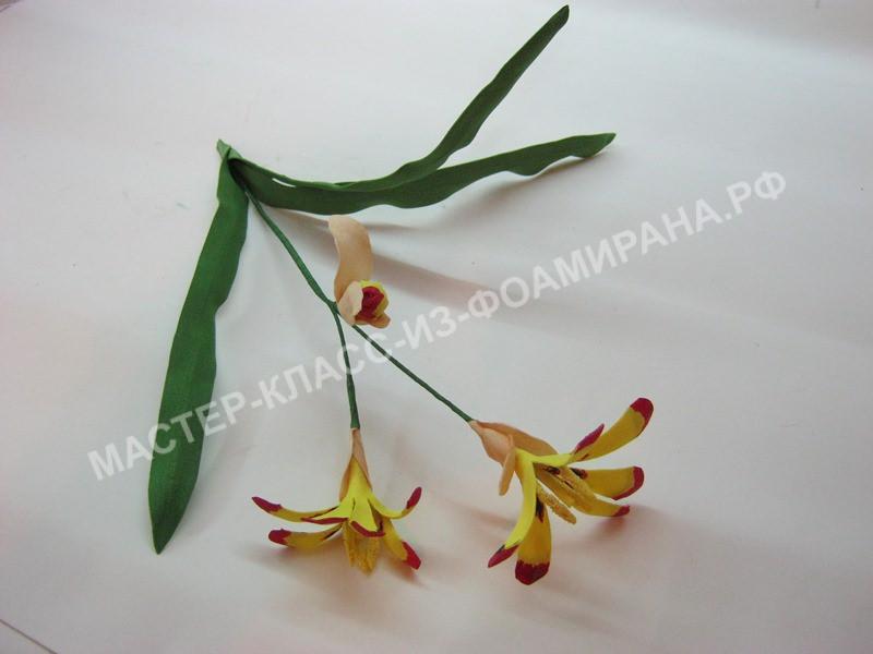 мастер -класс простые цветы из фоамирана,пошаговое фото