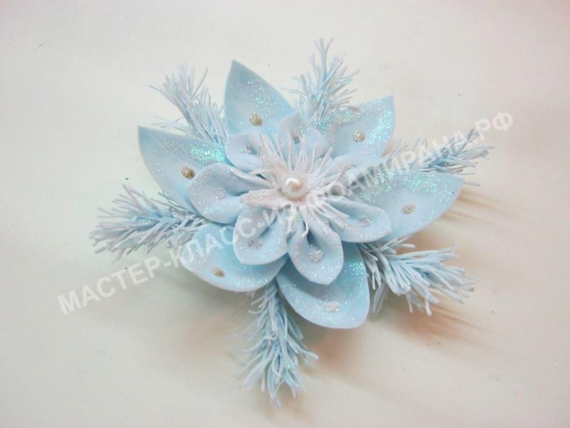 мастер-класс новогоднее украшение из зефирного фоамирана,пошаговое фото