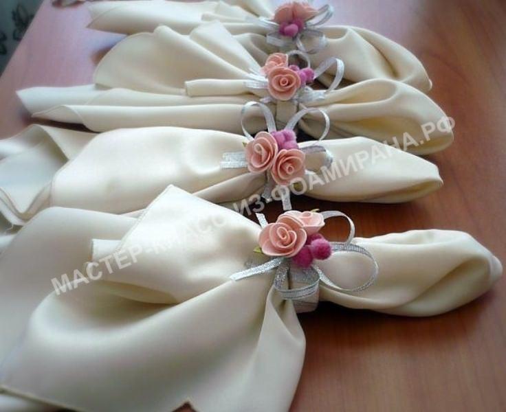 Мастер-класс держатель салфеток со цветами из фоамирана.