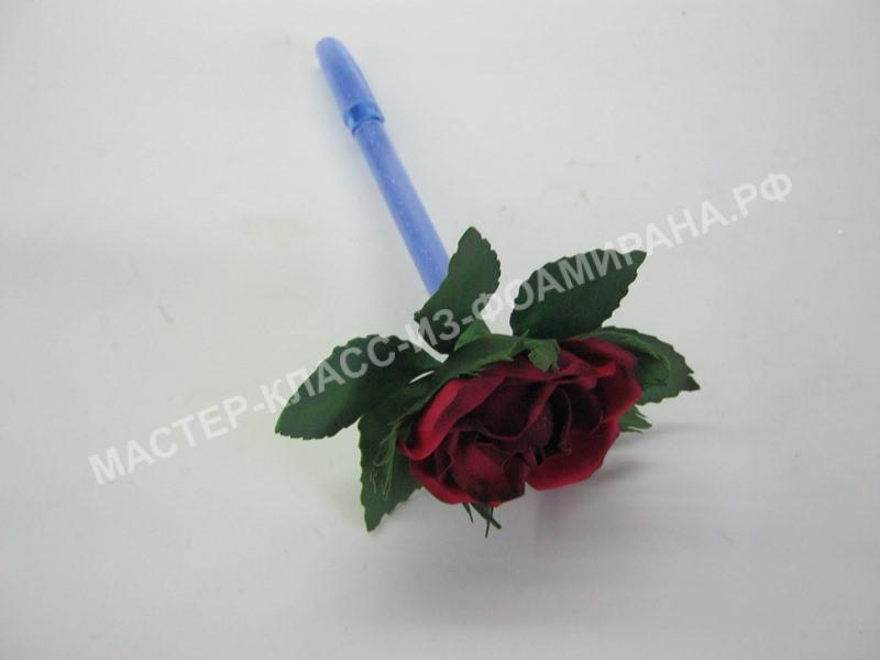 Мастер-класс декор авторучки розой из фоамирана,пошаговое фото.