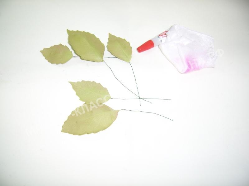 тонировка и приклеивание листьев на литоны.