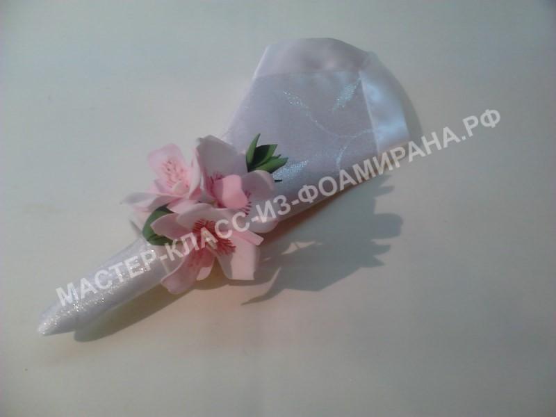 Мастер-класс держатель салфеток со цветами орхидеи Дендробиума.