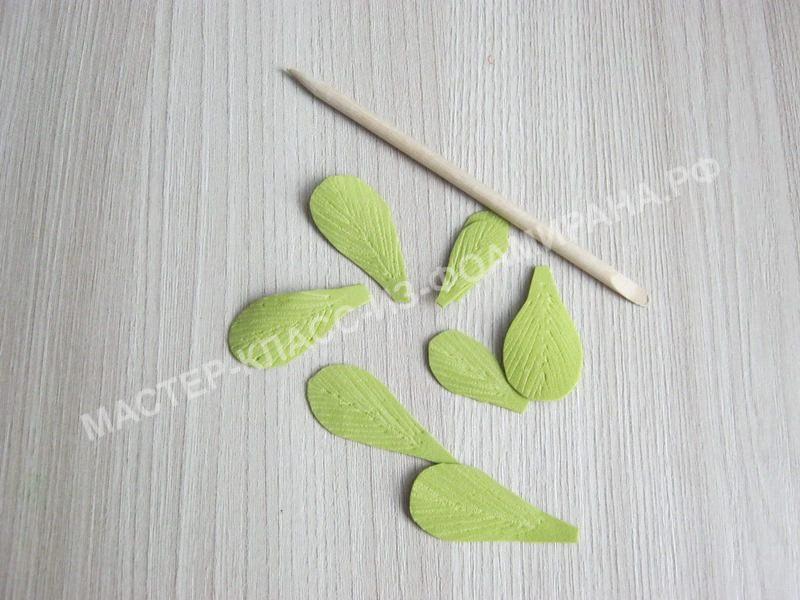 нанесению текстуры листочка
