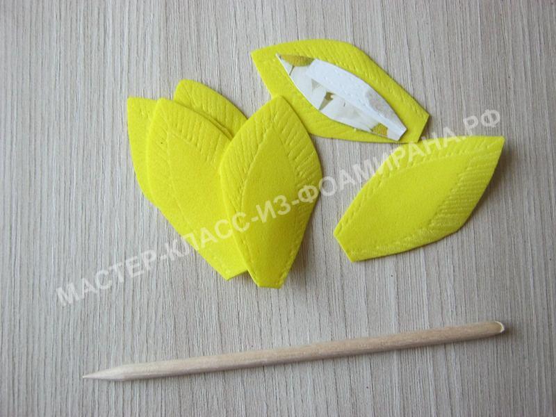 нанесение текстуры на лепестки