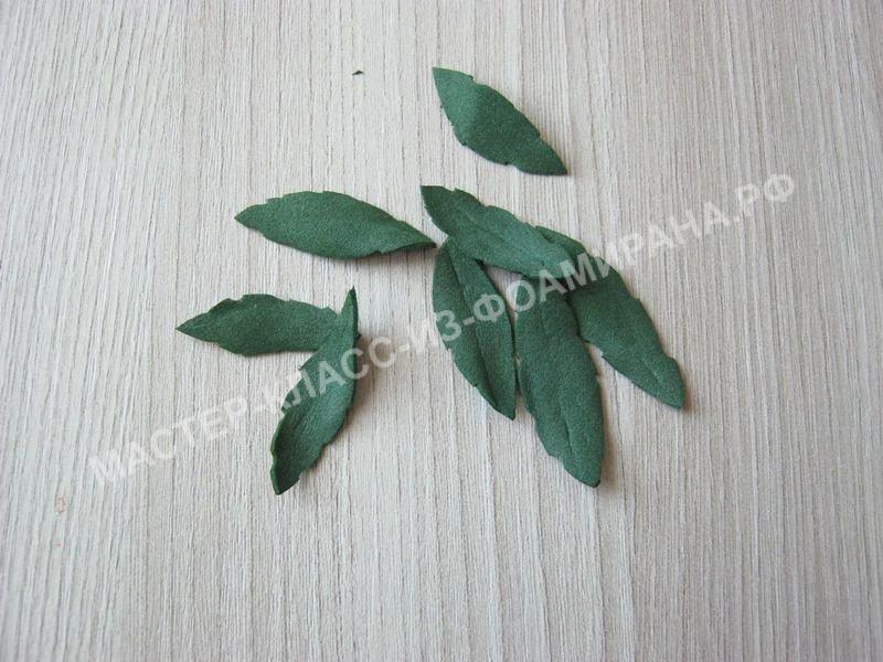 тонировка маленьких листочков