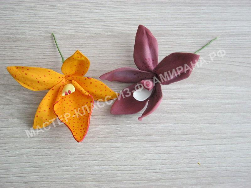 мастер-класс орхидея дендробиум, пошаговое фото