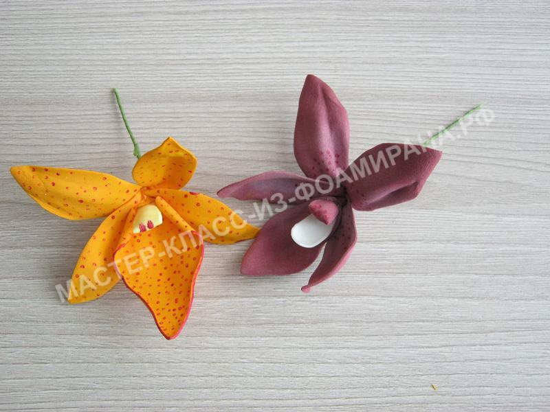 мастер-класс орхидея дендробиум, пошаговое фото.