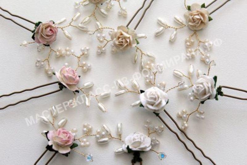 Мастер-класс декор шпильки розочкой из фоамирана