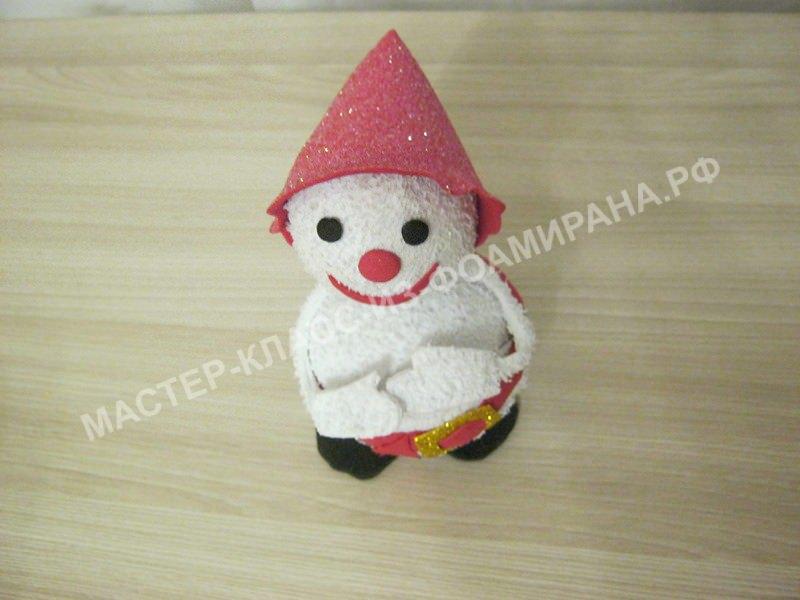 Мастер-класс снеговик из фоамирана,пошаговое фото.